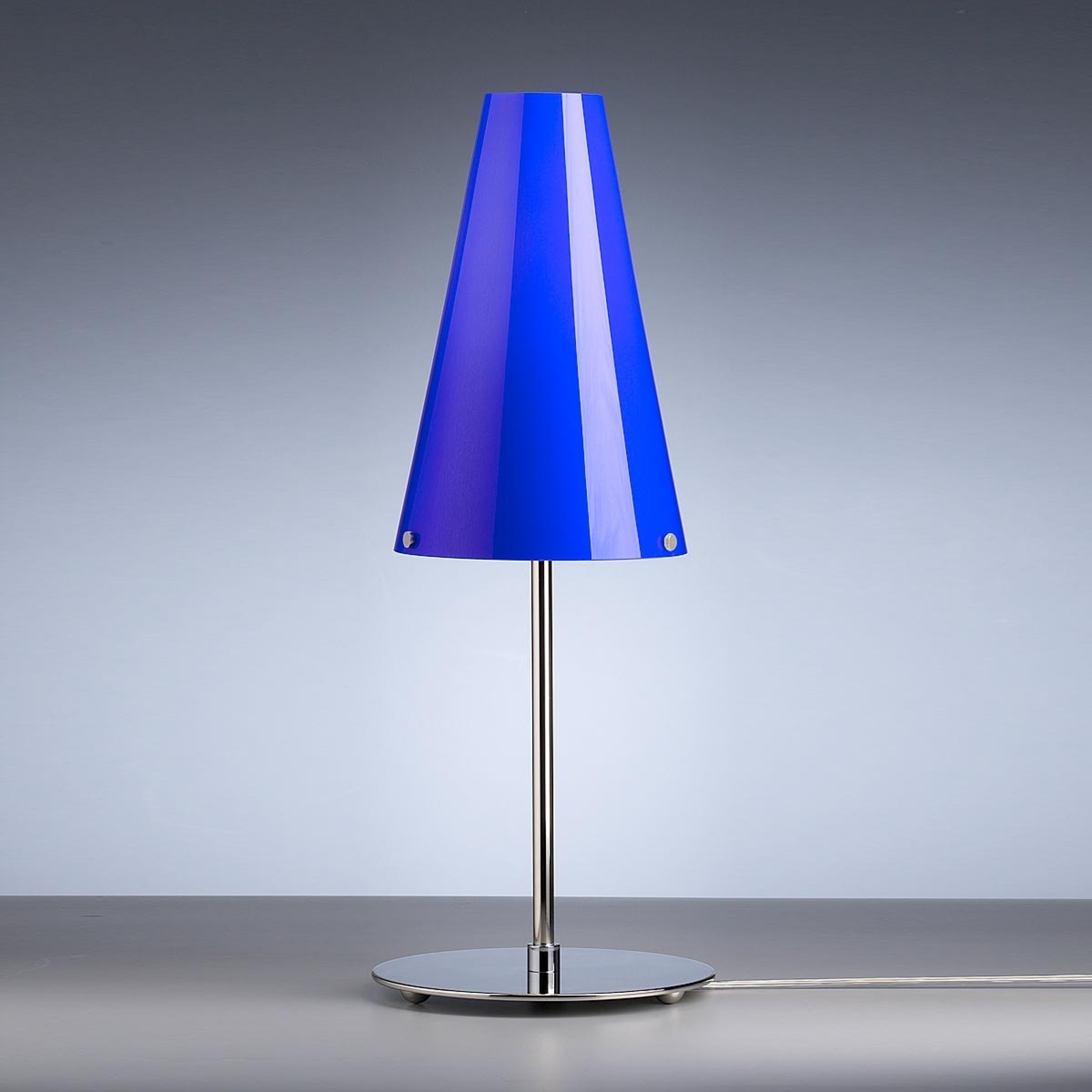 Tafellamp van Walter Schnepel, blauw
