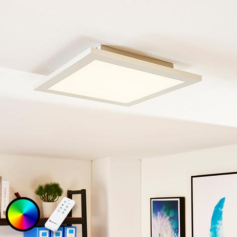 Kvadratisk LED-panel Tinus, RGB och varmvit