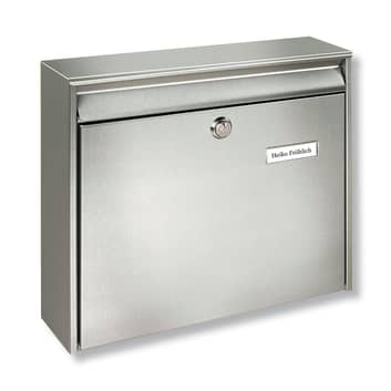BORKUM postkasse i rustfritt stål, batterimontasje