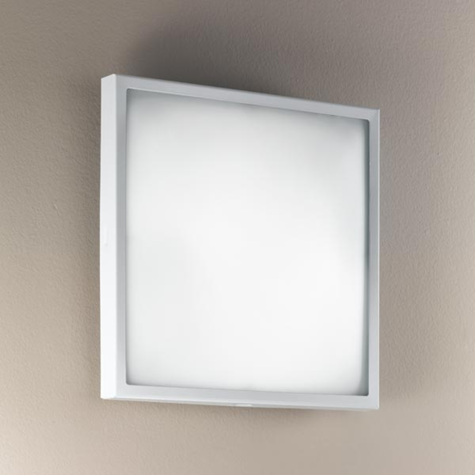 Szklana lampa ścienna i sufitowa OSAKA, biała