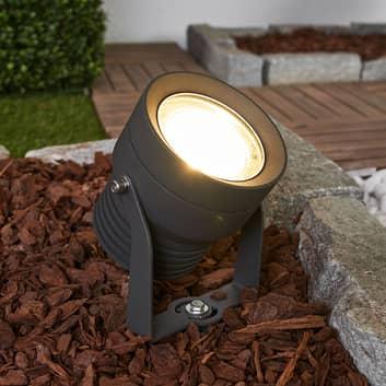 LED buitenspot Irina in donkergrijs