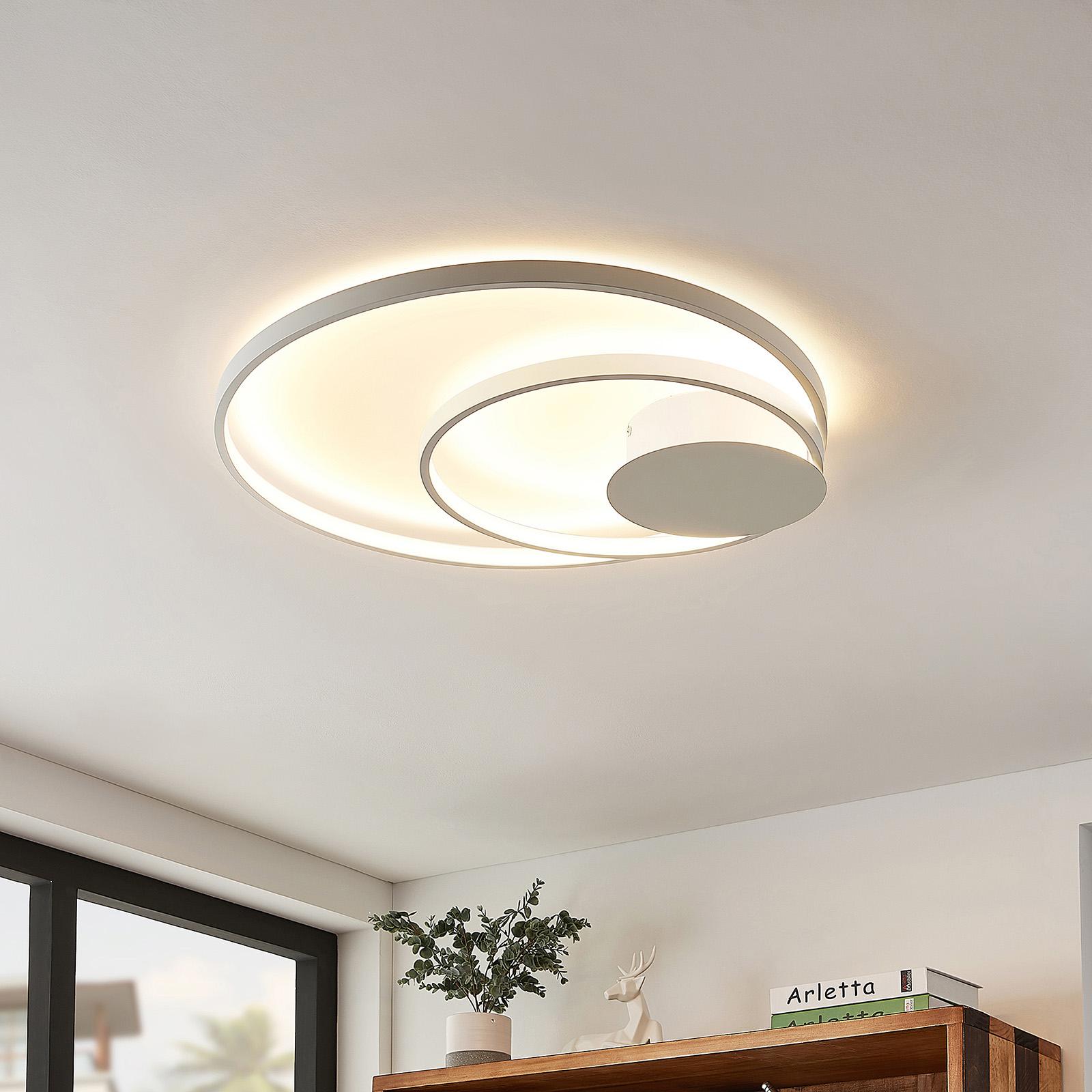Lindby Nerwin LED plafondlamp, rond, wit