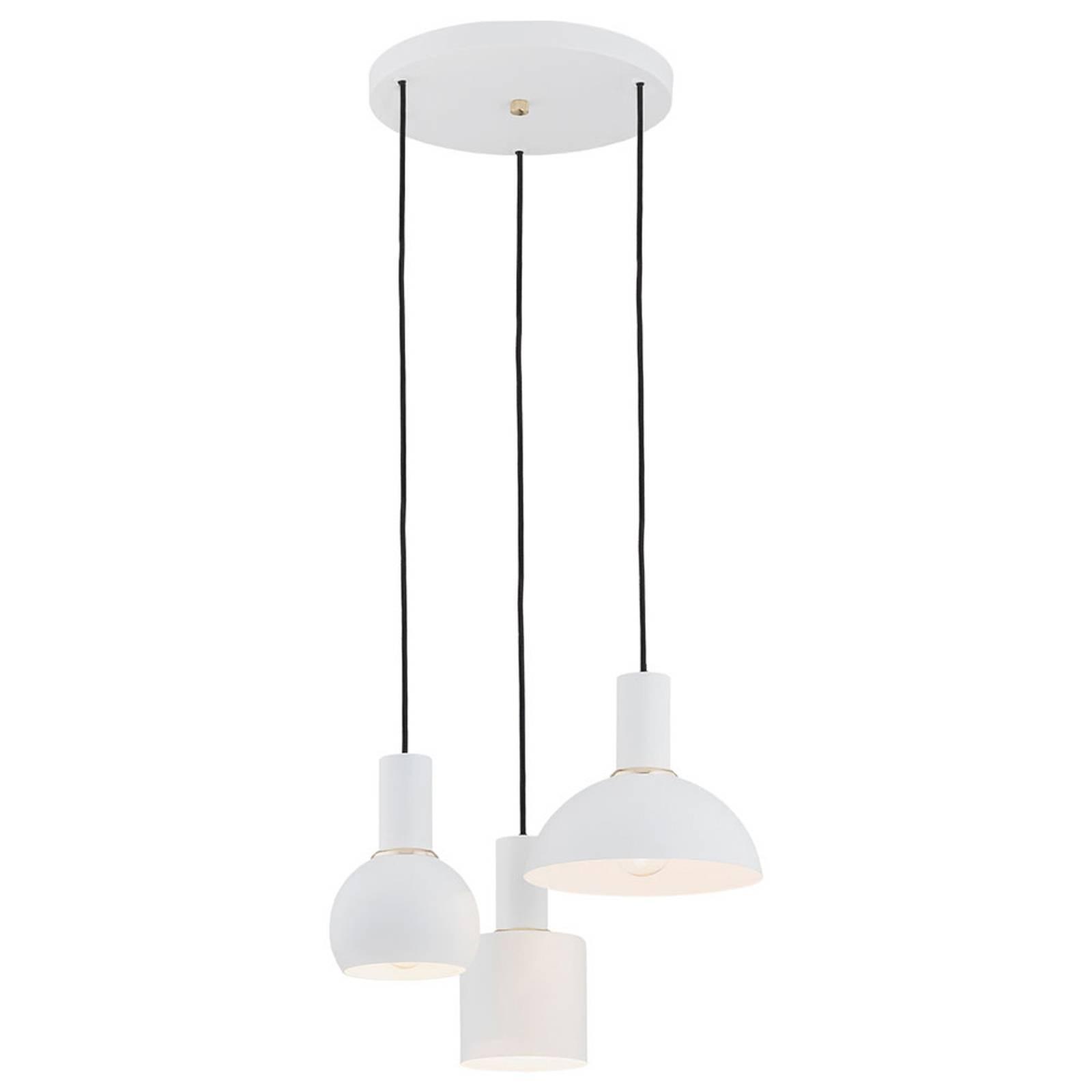 Suspension Selma, à 3 lampes, blanche