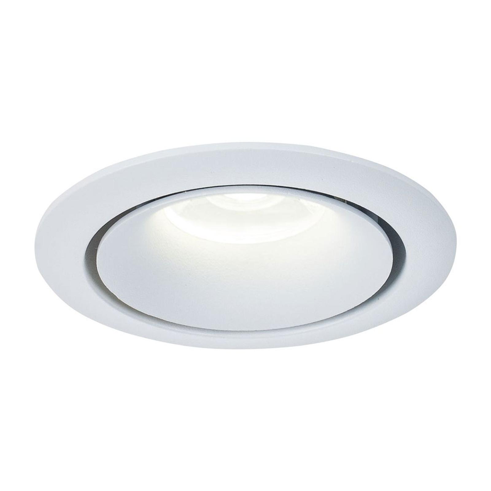 Einbaustrahler Yin mit Aluminiumrahmen in Weiß