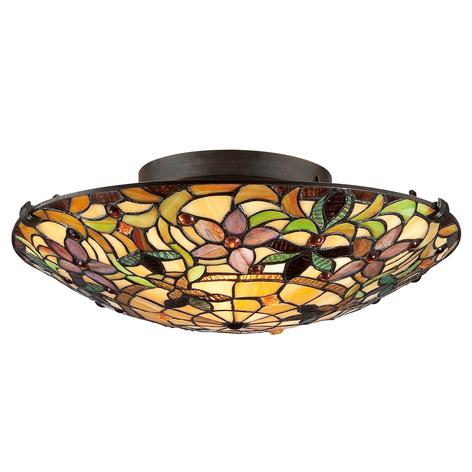 Lámpara de techo Kami en estilo Tiffany