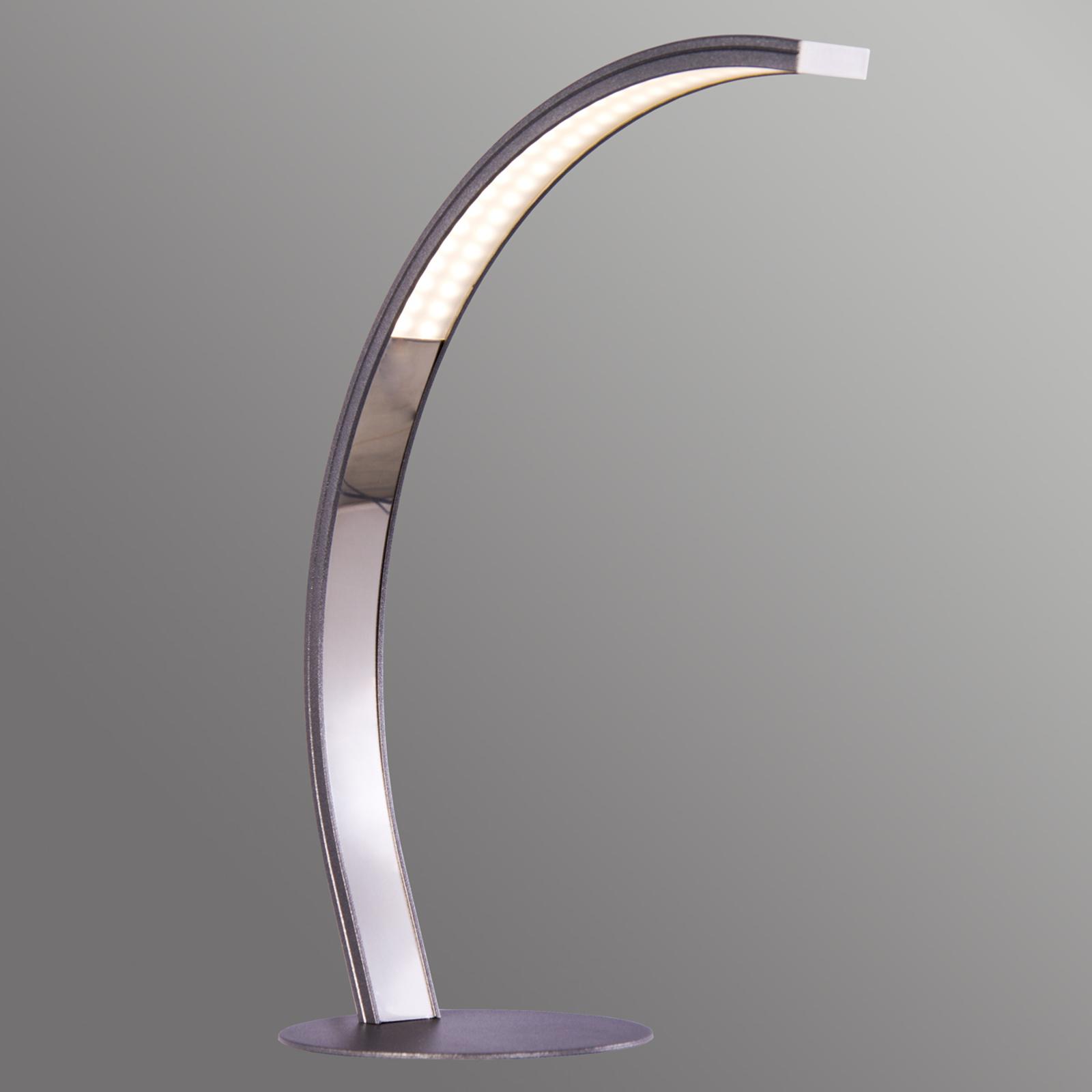 LED-Tischleuchte Largo Höhe 36 cm matt grau