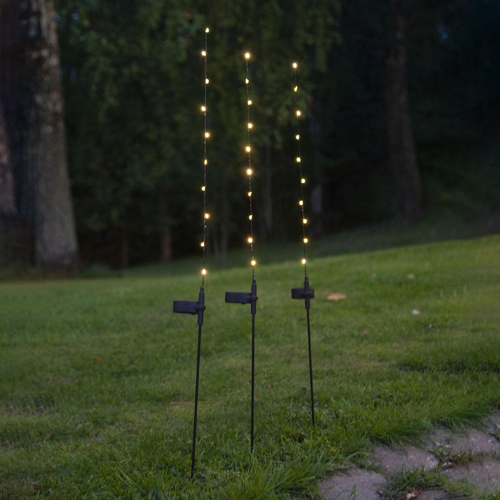 LED-solcellelampe Flexy, 3-pakning