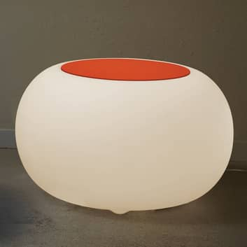 BUBBLE Indoor LEDRGB bordlys, hvid + orange filt