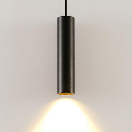 Arcchio Ejona lampa wisząca, wysokość 27cm, czarna