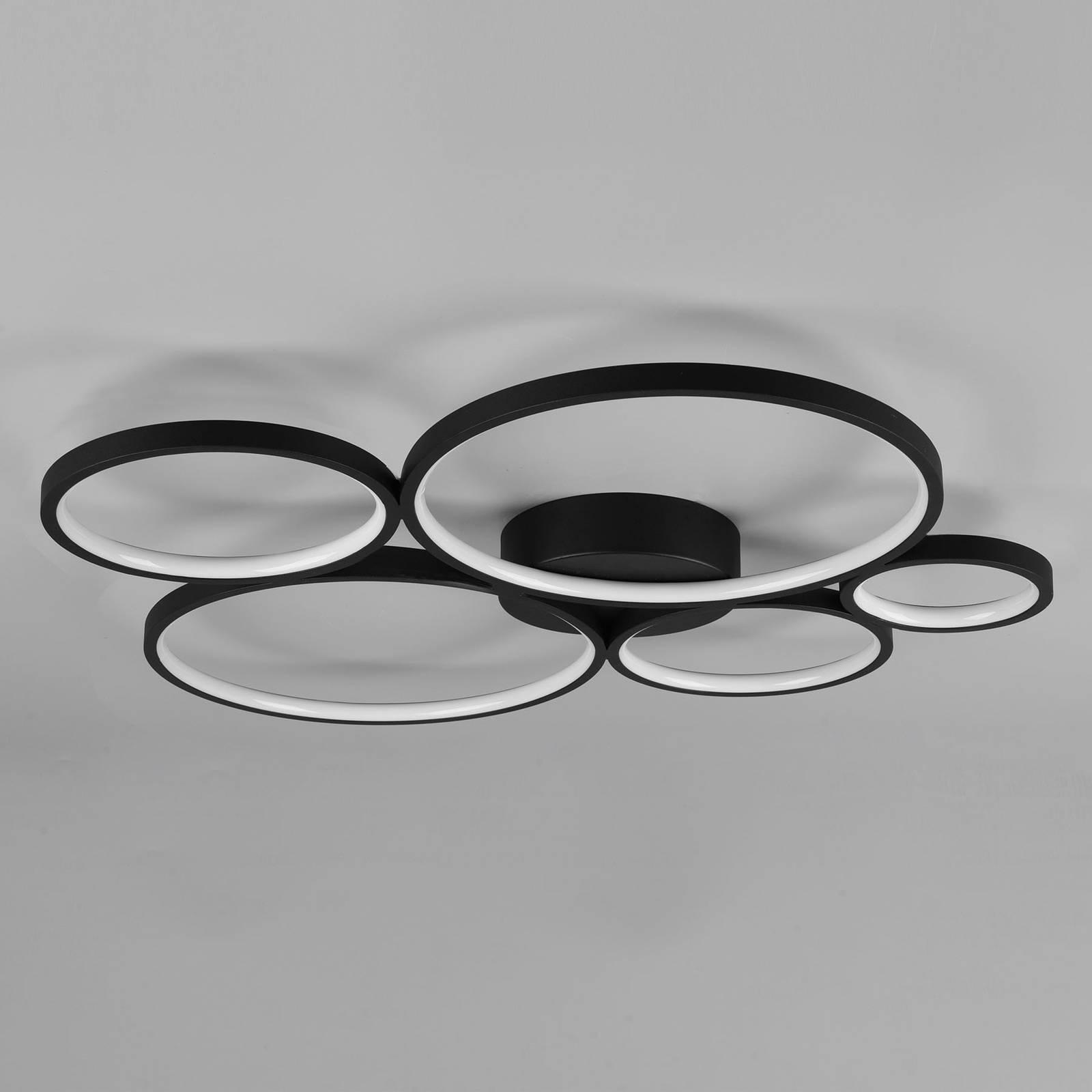 Lampa sufitowa LED Rondo, czarna matowa