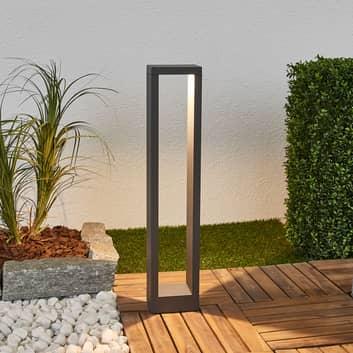 Grafietgrijze LED tuinpad verlichting Jupp, 60 cm