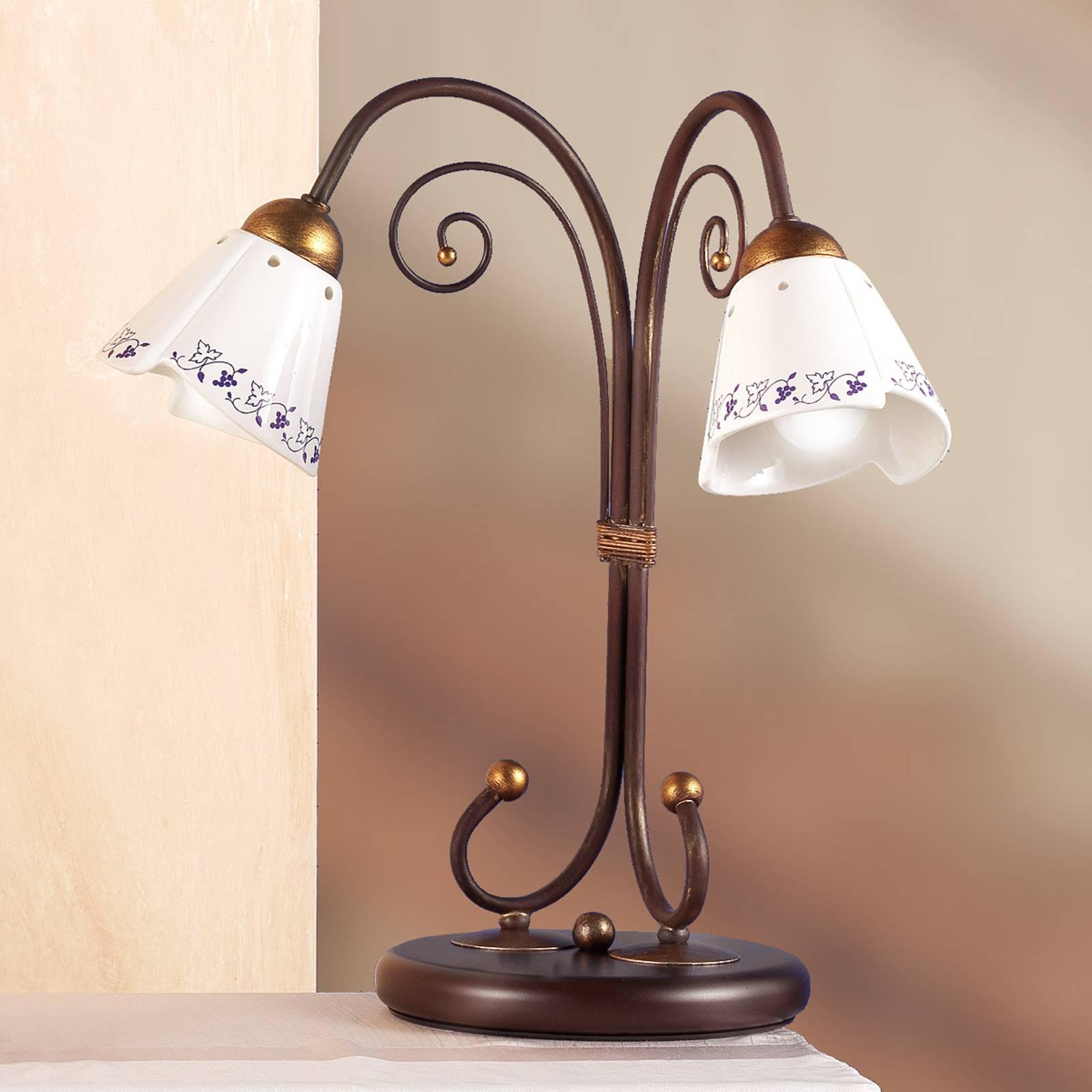 Elegante tafellamp CARTOCCIO, 2-lichts