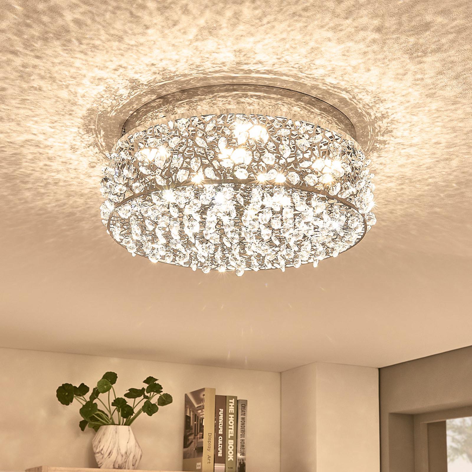 Strålende LED-taklampe Felias, rund form