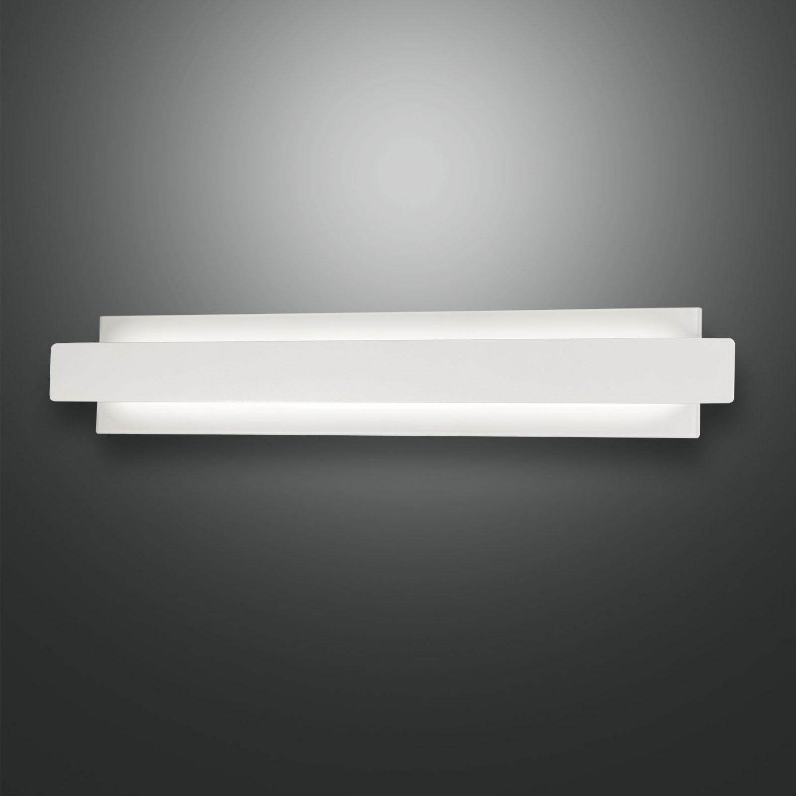 LED wandlamp Regolo met metalen front wit