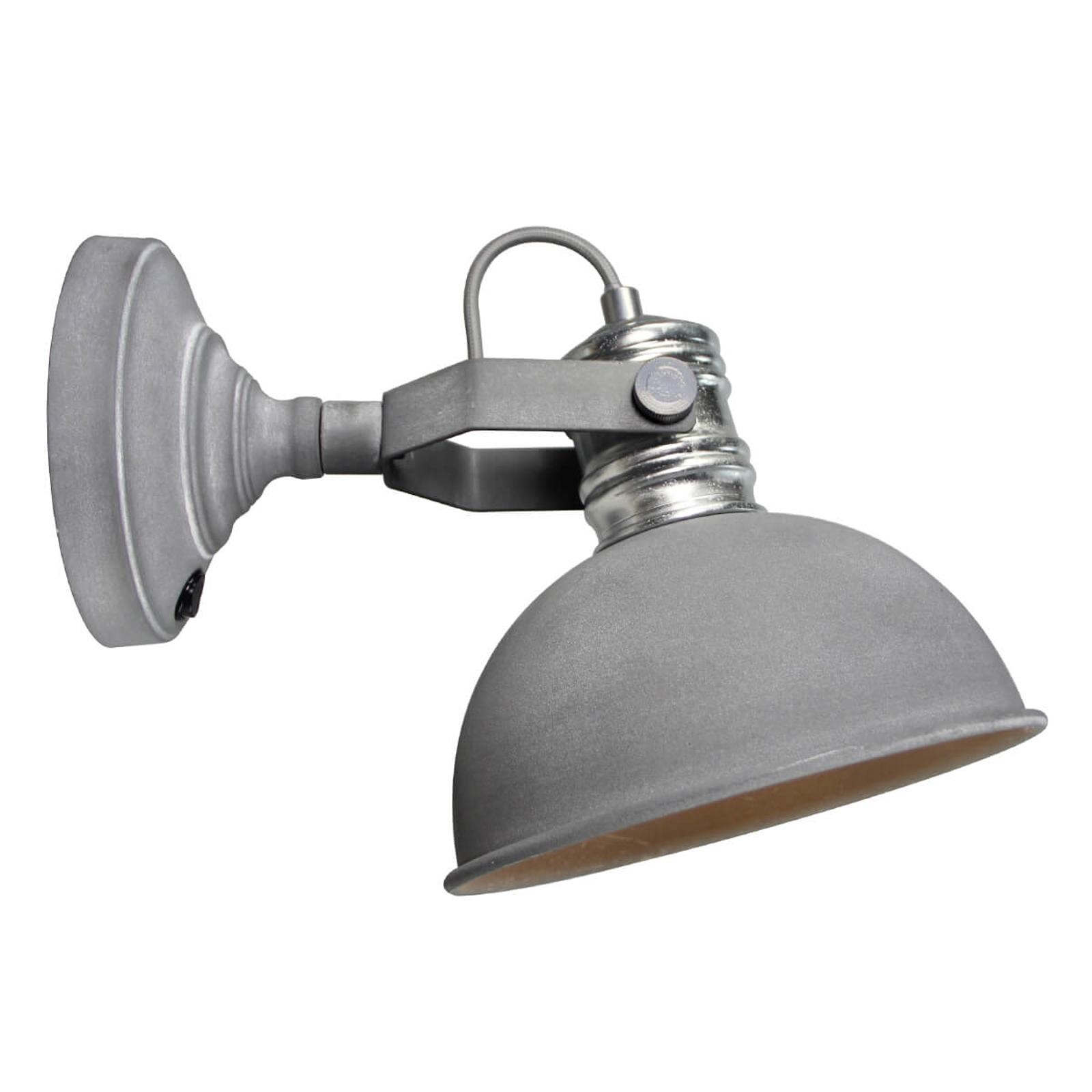Frieda - betonowoszara lampa ścienna industrialna