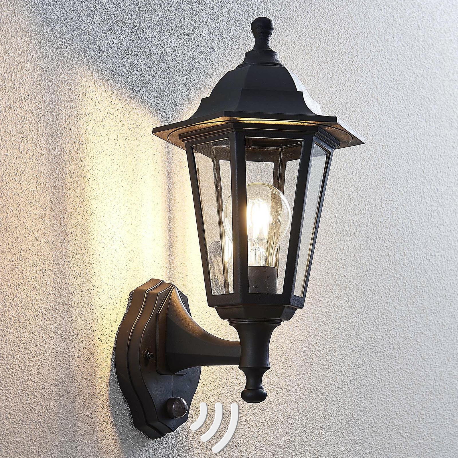 Kinkiet zewnętrzny Nane, latarnia z czujnikiem
