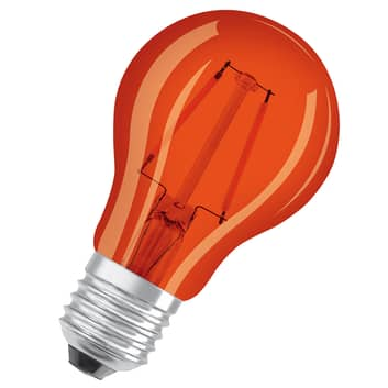 OSRAM LED lamp E27 Star Décor Cla A 2,5W, oranje