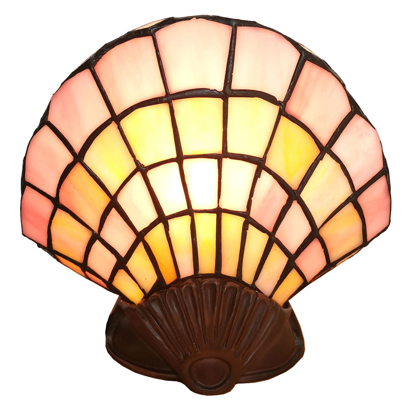 Dekoracyjna lampa stołowa 6000, muszla, Tiffany
