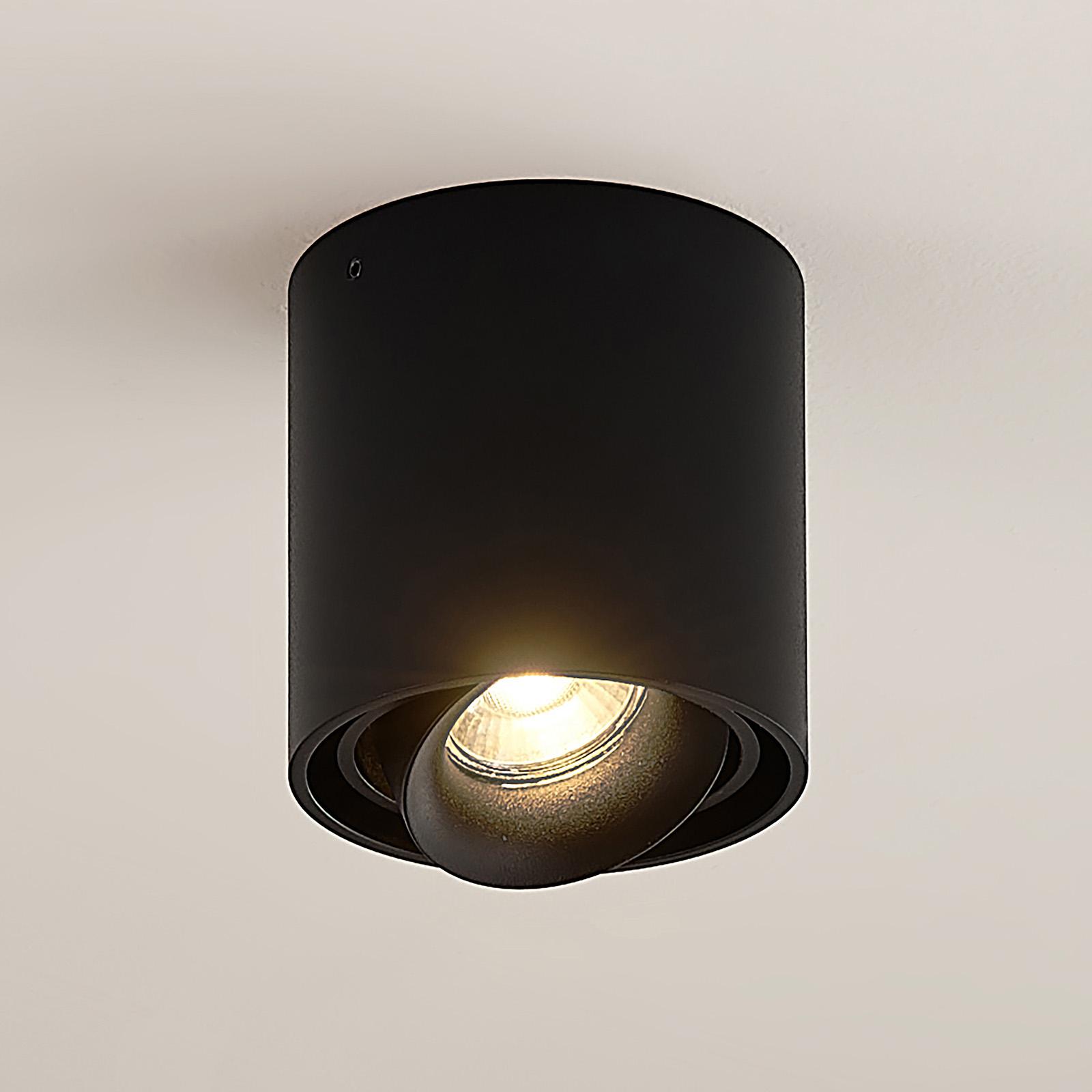 Arcchio Walza downlight, GU10, zwart