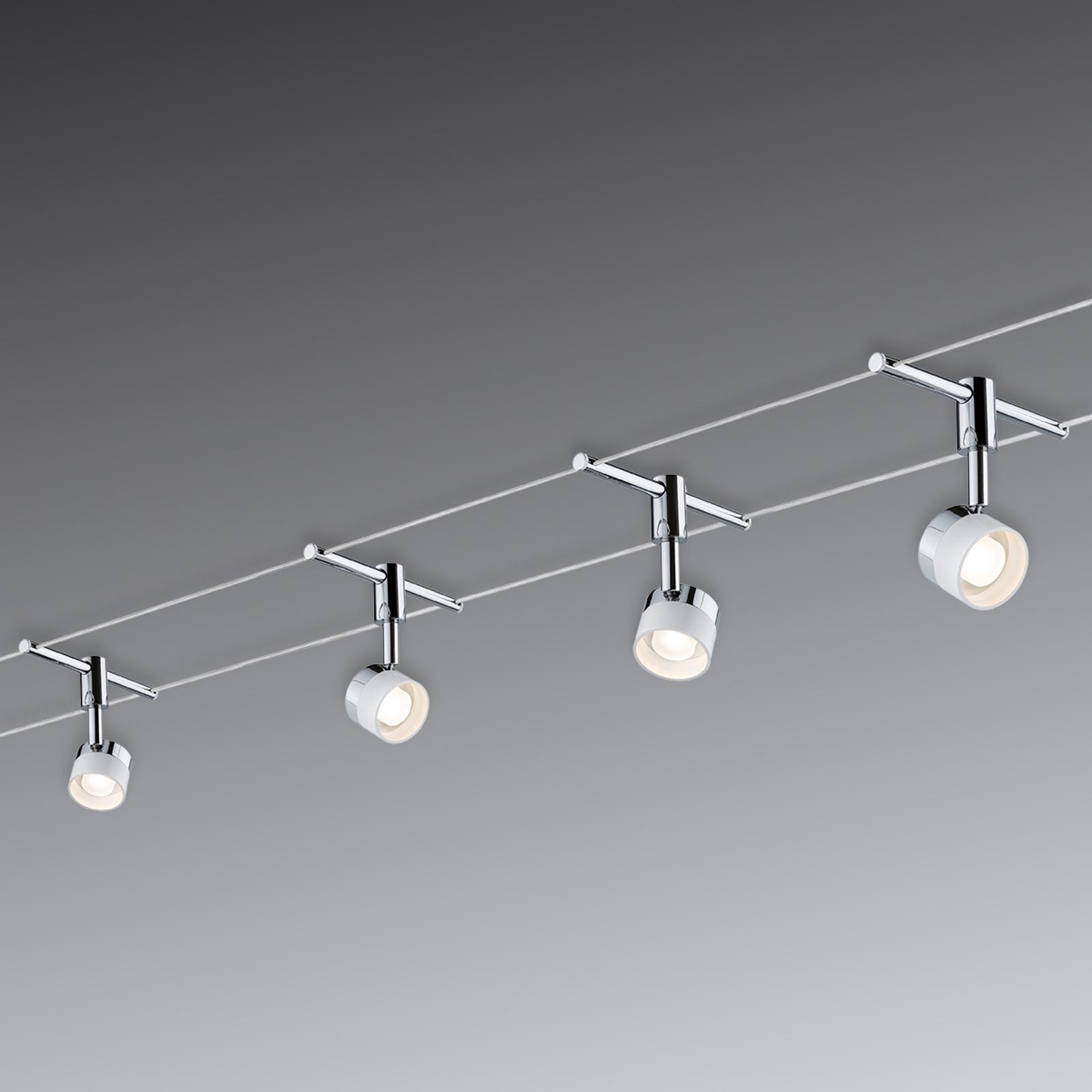 Met 4 ronde lampen - LED kabelsysteem Stage