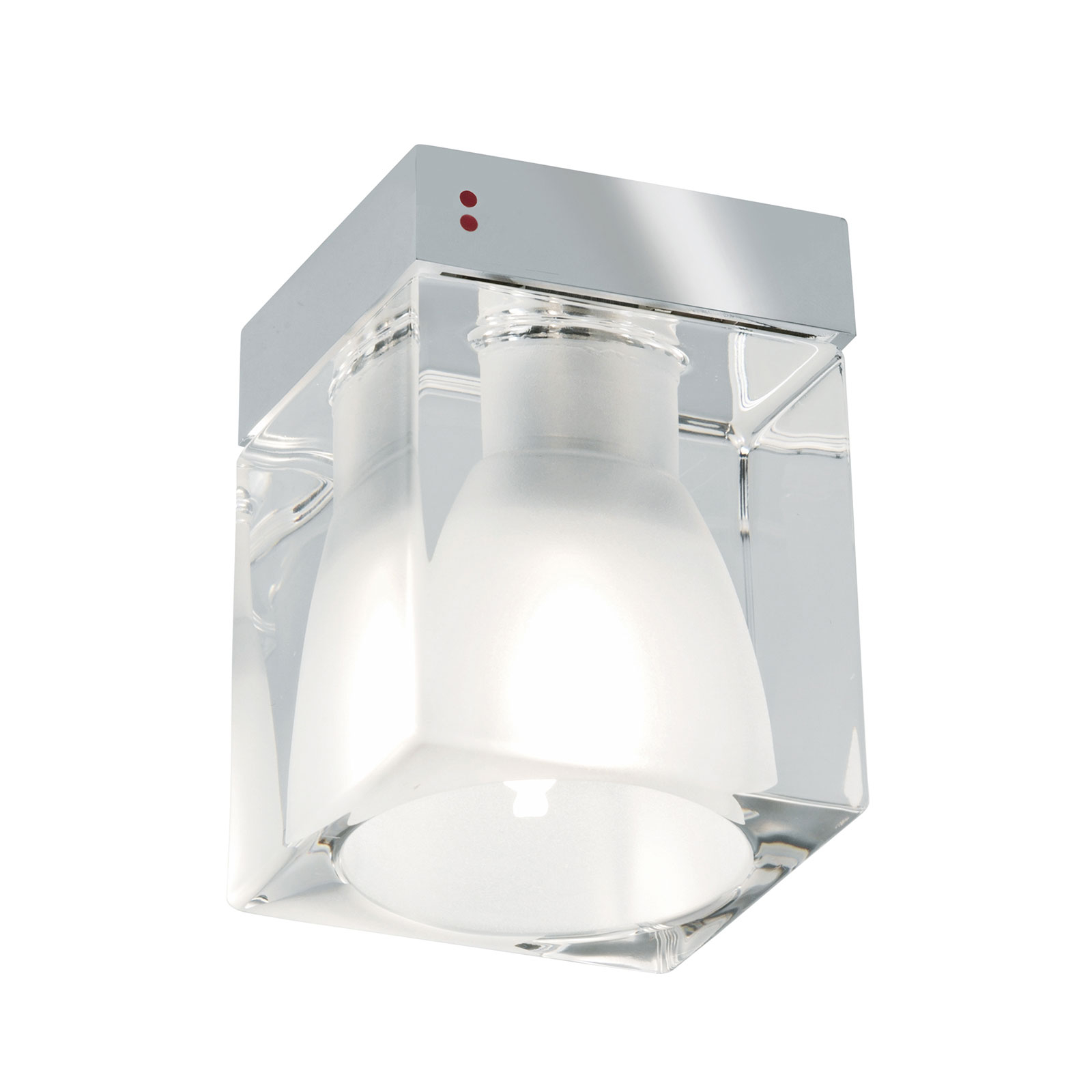 Cubetto-kattovalaisin 1-lamppuinen, kirkas