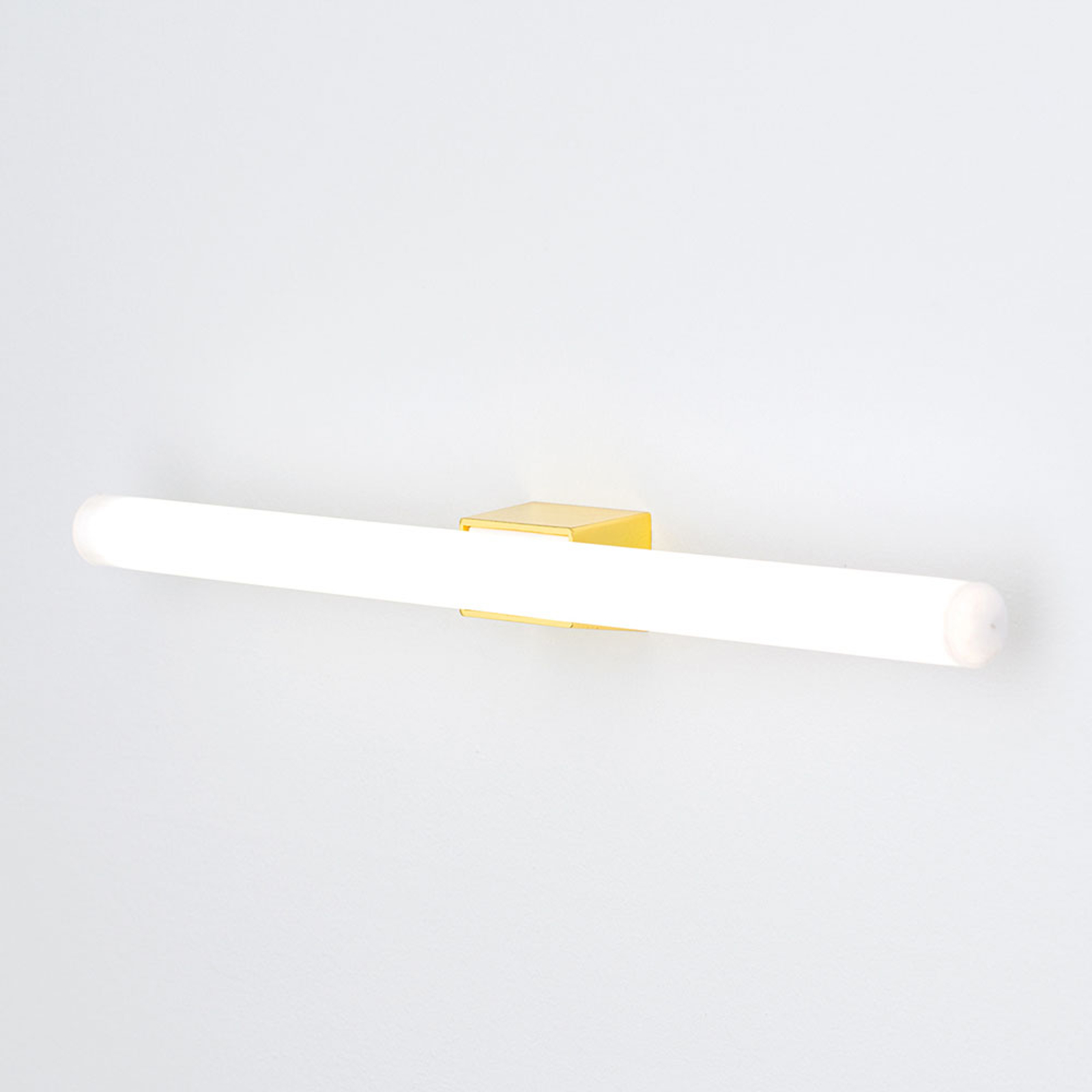 LED-speillampe Visagist, messing feste