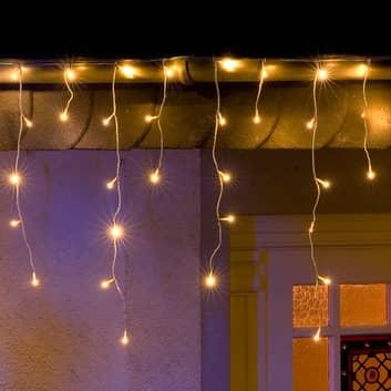LED lysgardin isregn, kold hvid, 3m, m. 96 lys