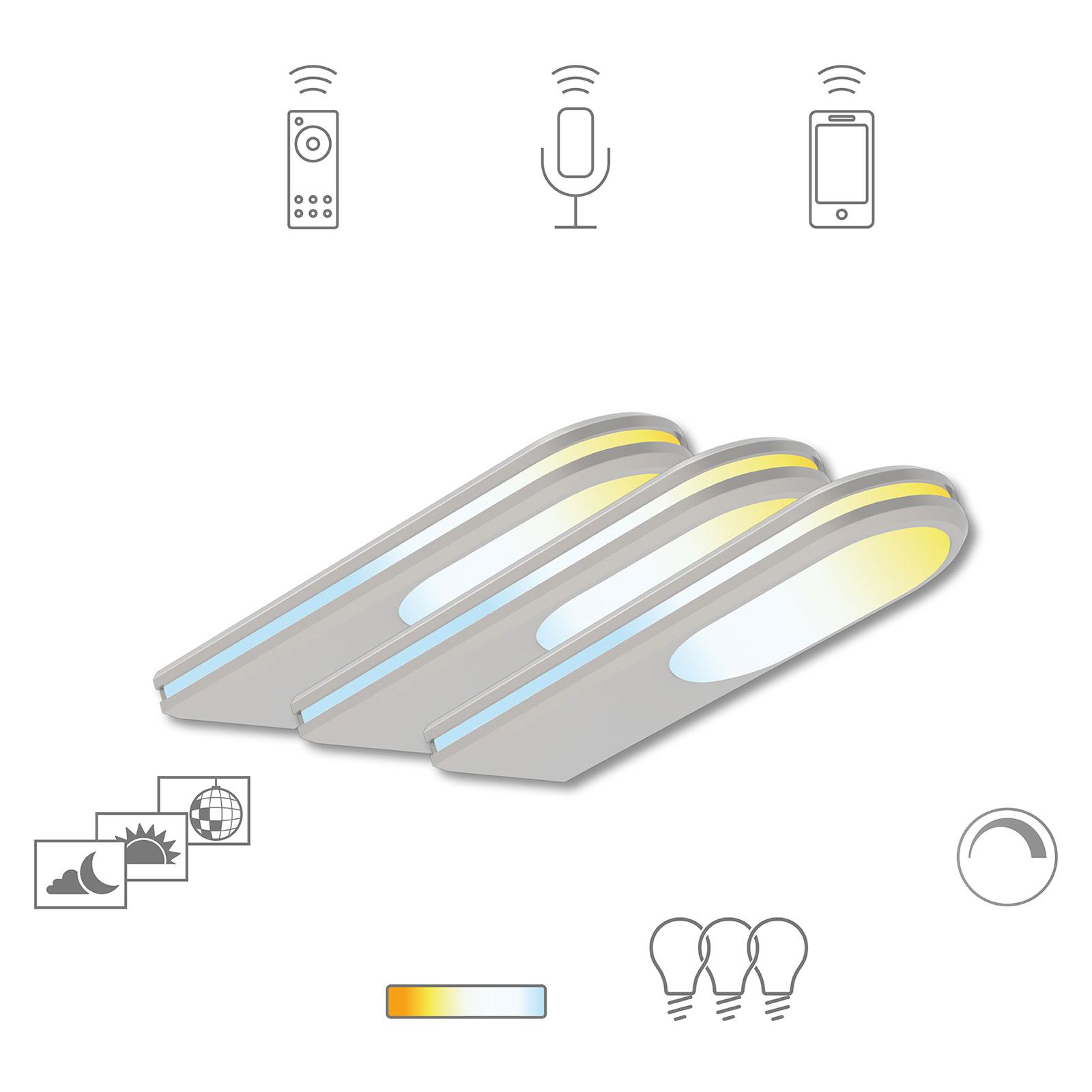 Müller Licht tint LED-skabslampe Armaro, 3.stk.