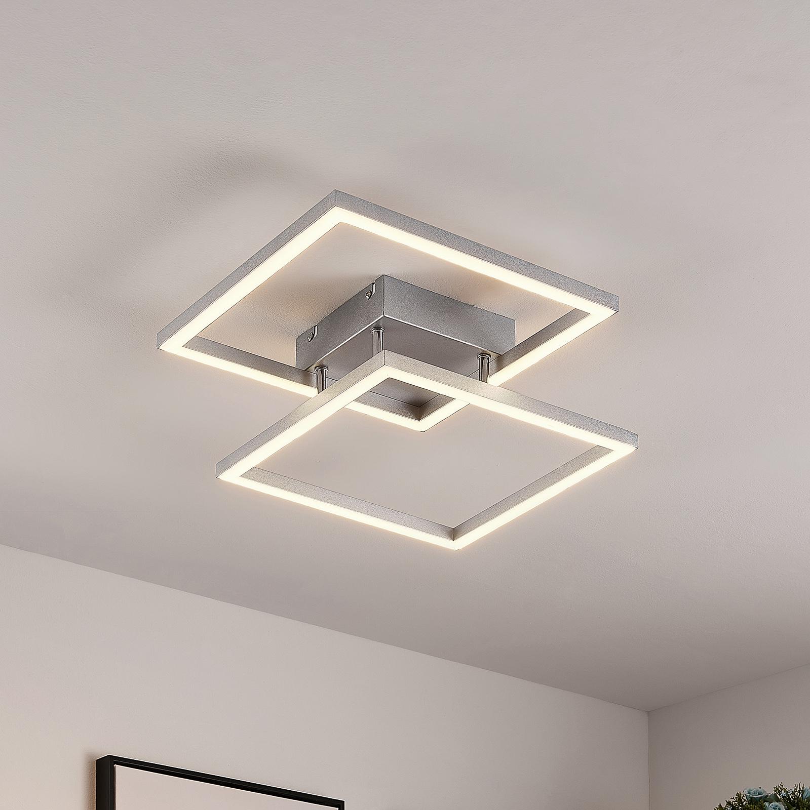 Lucande Muir LED-taklampe, kvadratisk