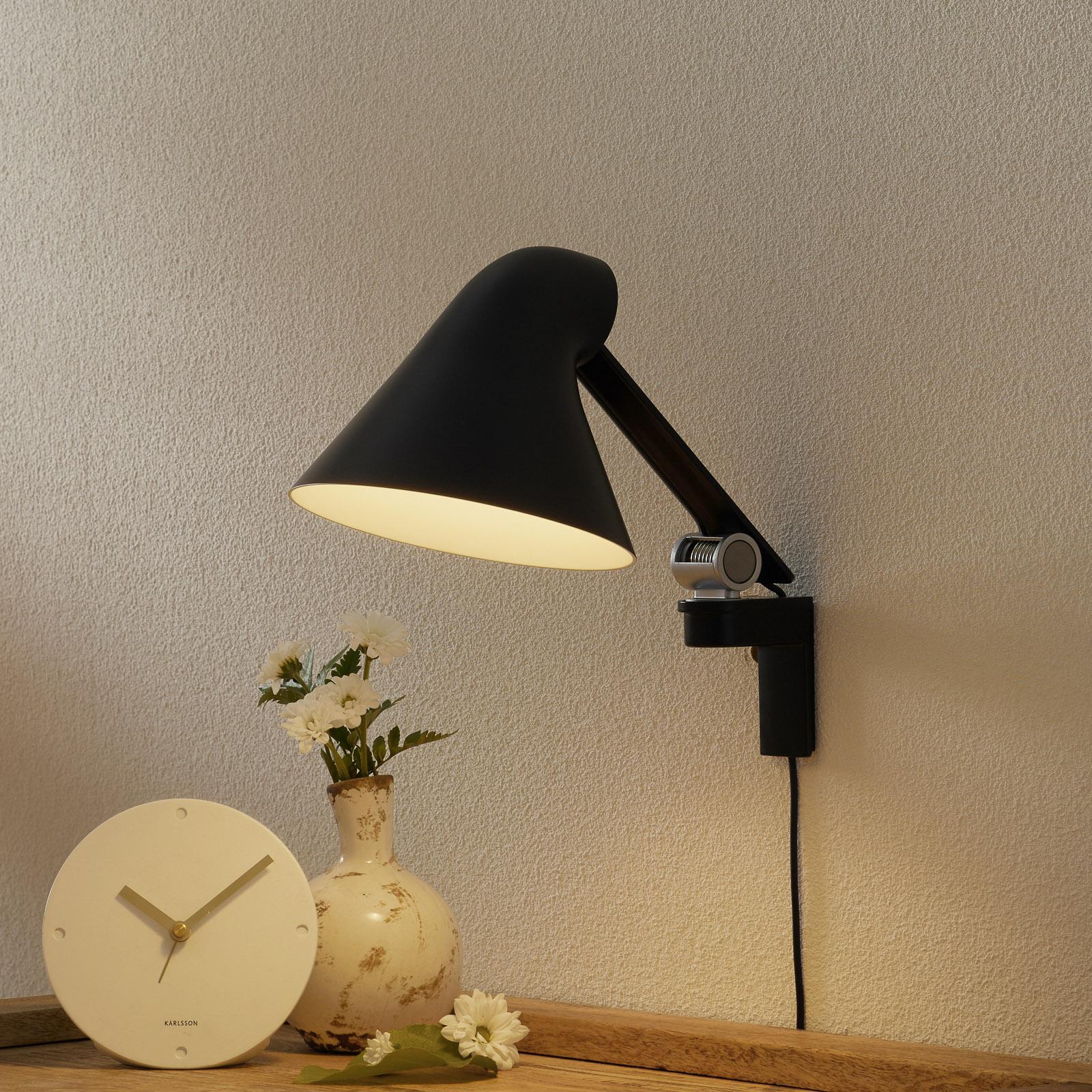 Louis Poulsen NJP LED wandlamp arm kort, zwart