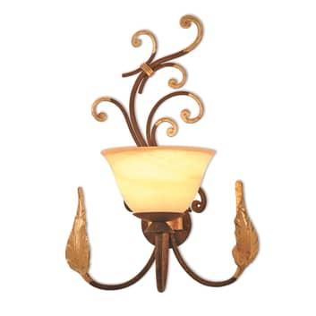 Snørklet væglampe Florence Antik