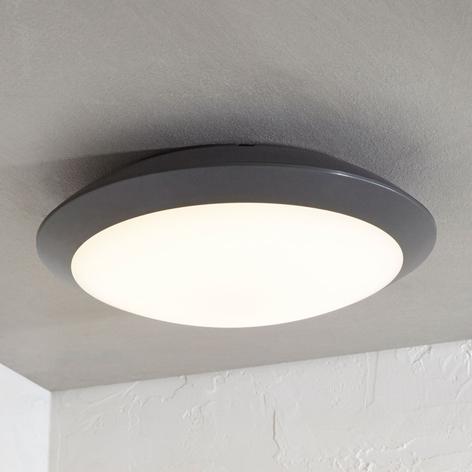 LED-Außendeckenlampe Naira, grau, o. Sensor