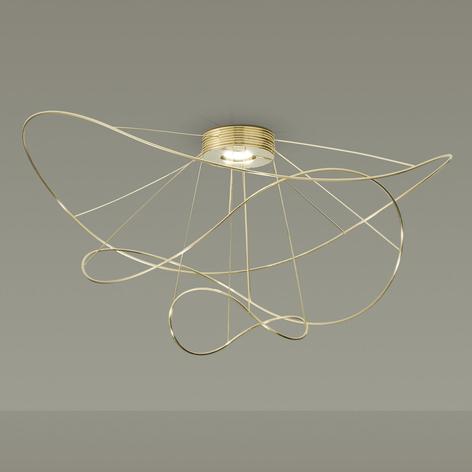 Axolight Hoops 3 plafón LED, oro
