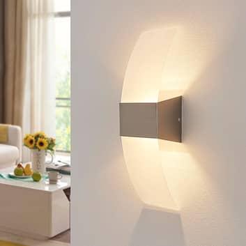 Decoratieve LED-wandlamp Harry, mat nikkel