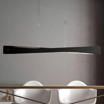 Lucande Lian LED-Hängelampe, schwarz, alu