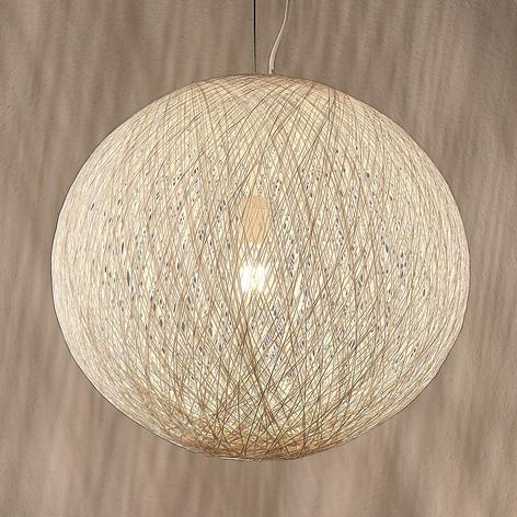 Hanglamp Julio van fijne papieren koorden, wit