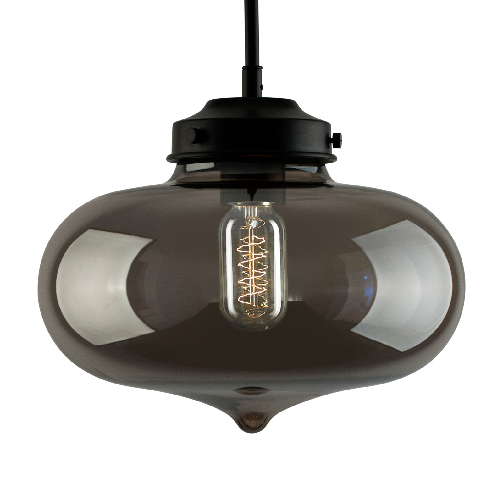 Lampa wisząca LA005 E27 klosz serce smoky