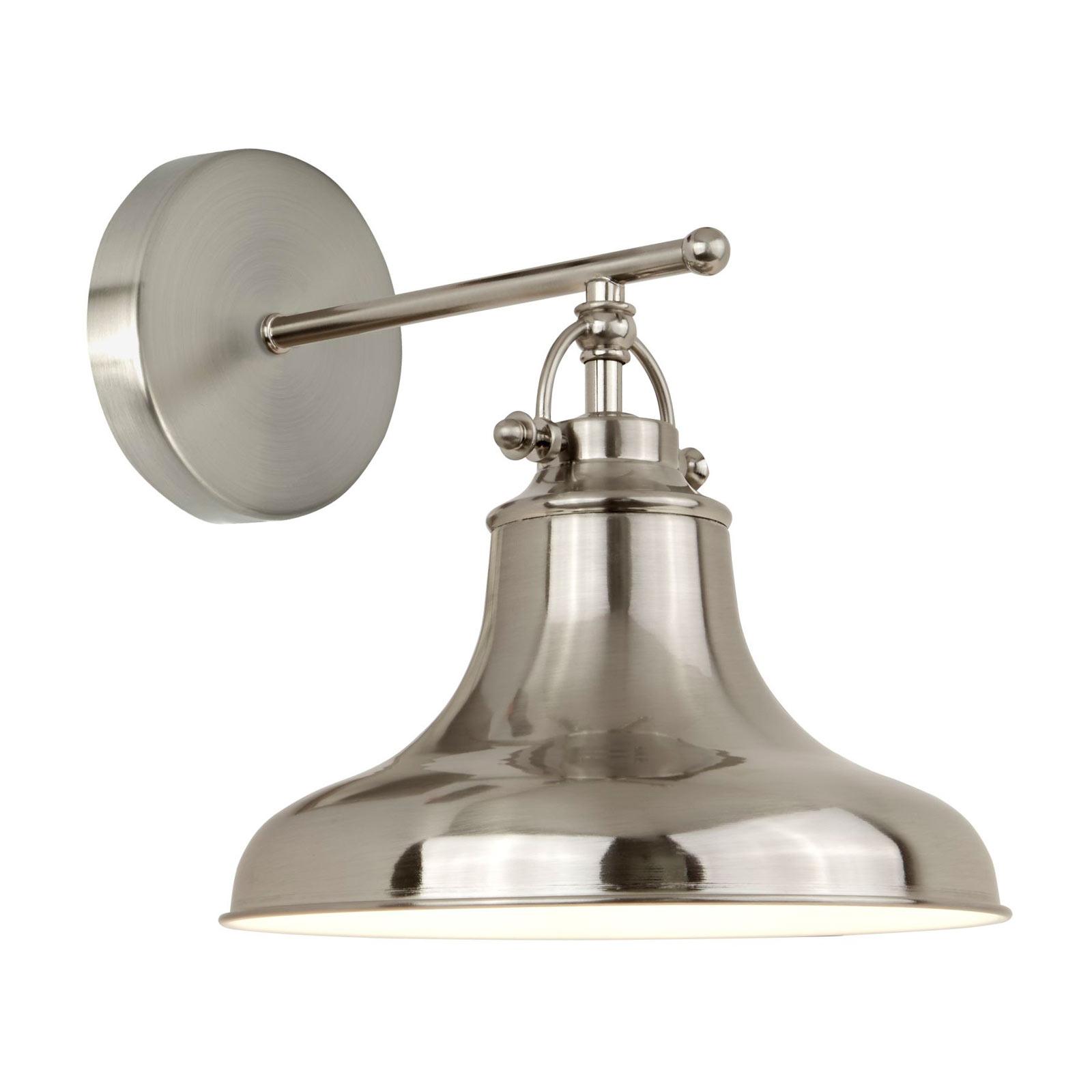 Lampa ścienna Dallas w stylu industrialnym srebrna