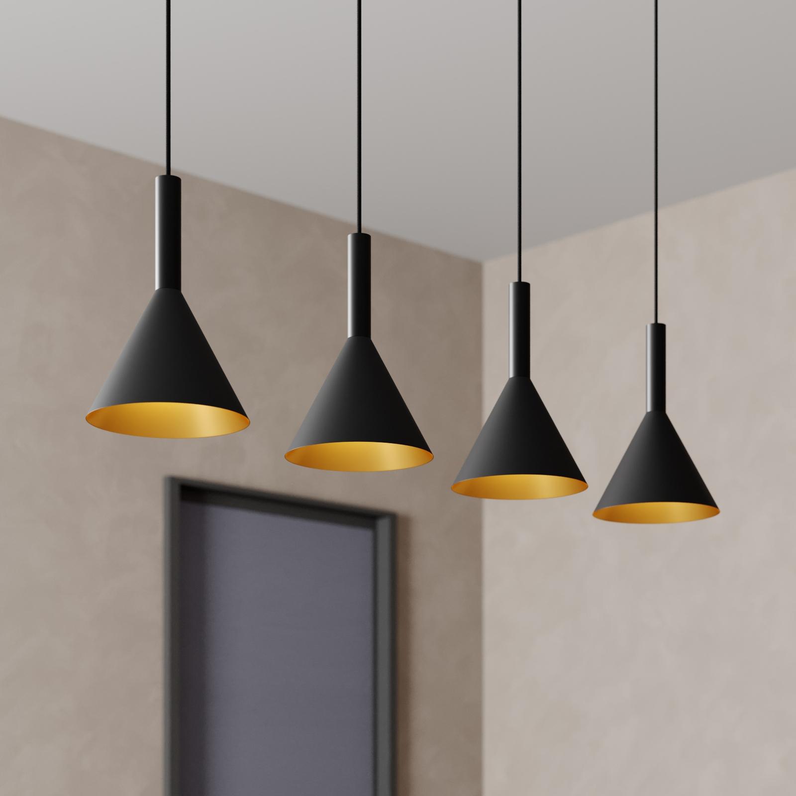 Arcchio Marcello hengelampe 4 lys, svart-gull