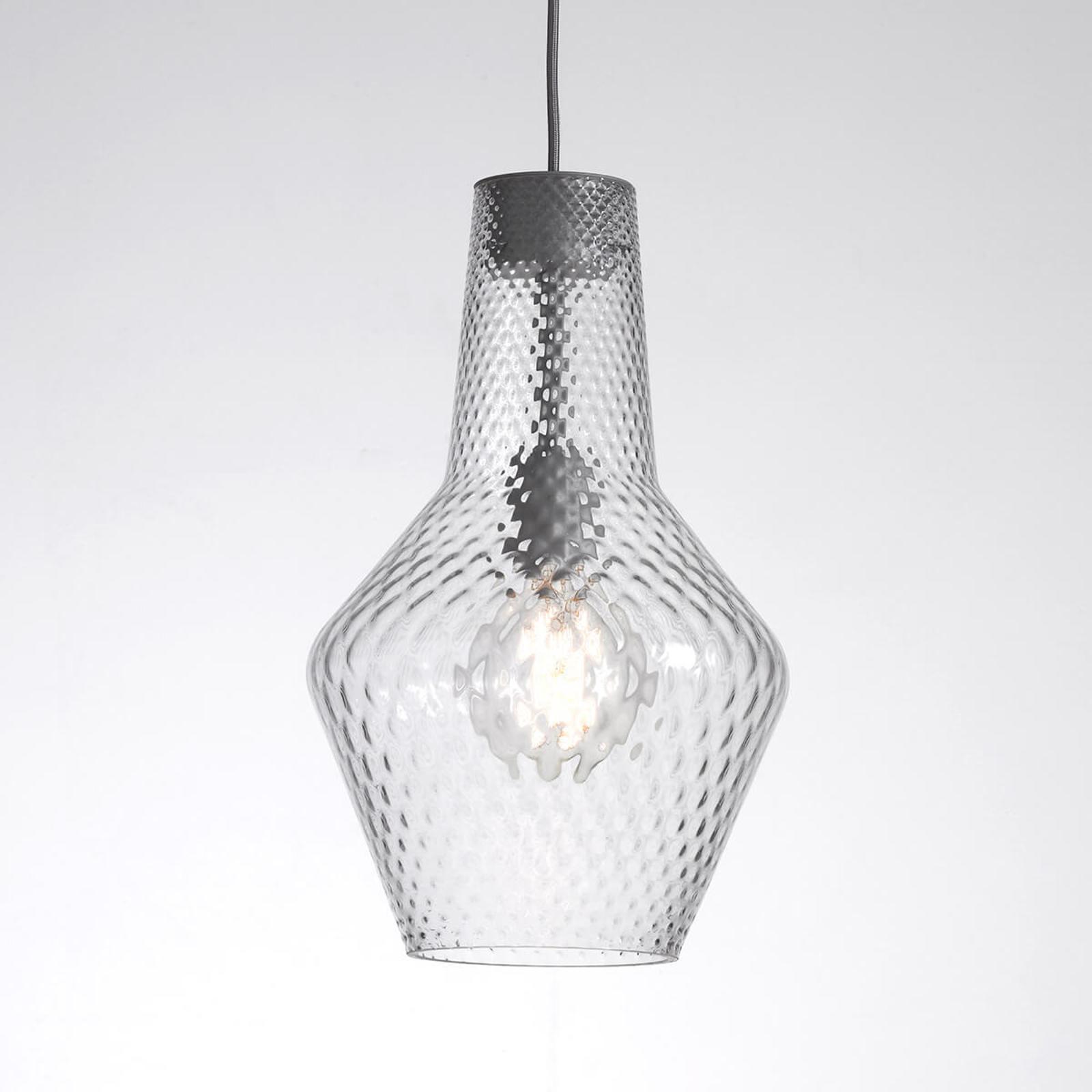 Lampa wisząca Romeo 130 cm, szkło przezroczyste