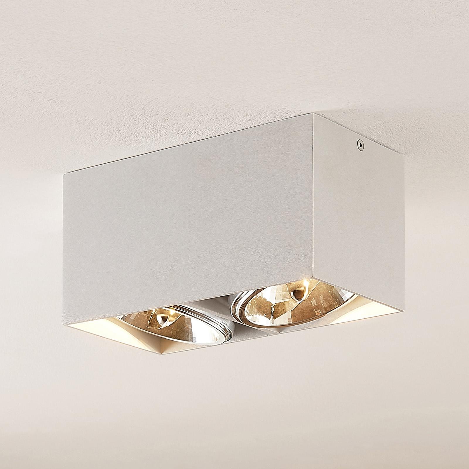 Arcchio Jarle taklampe, 2 lyskilder hvit