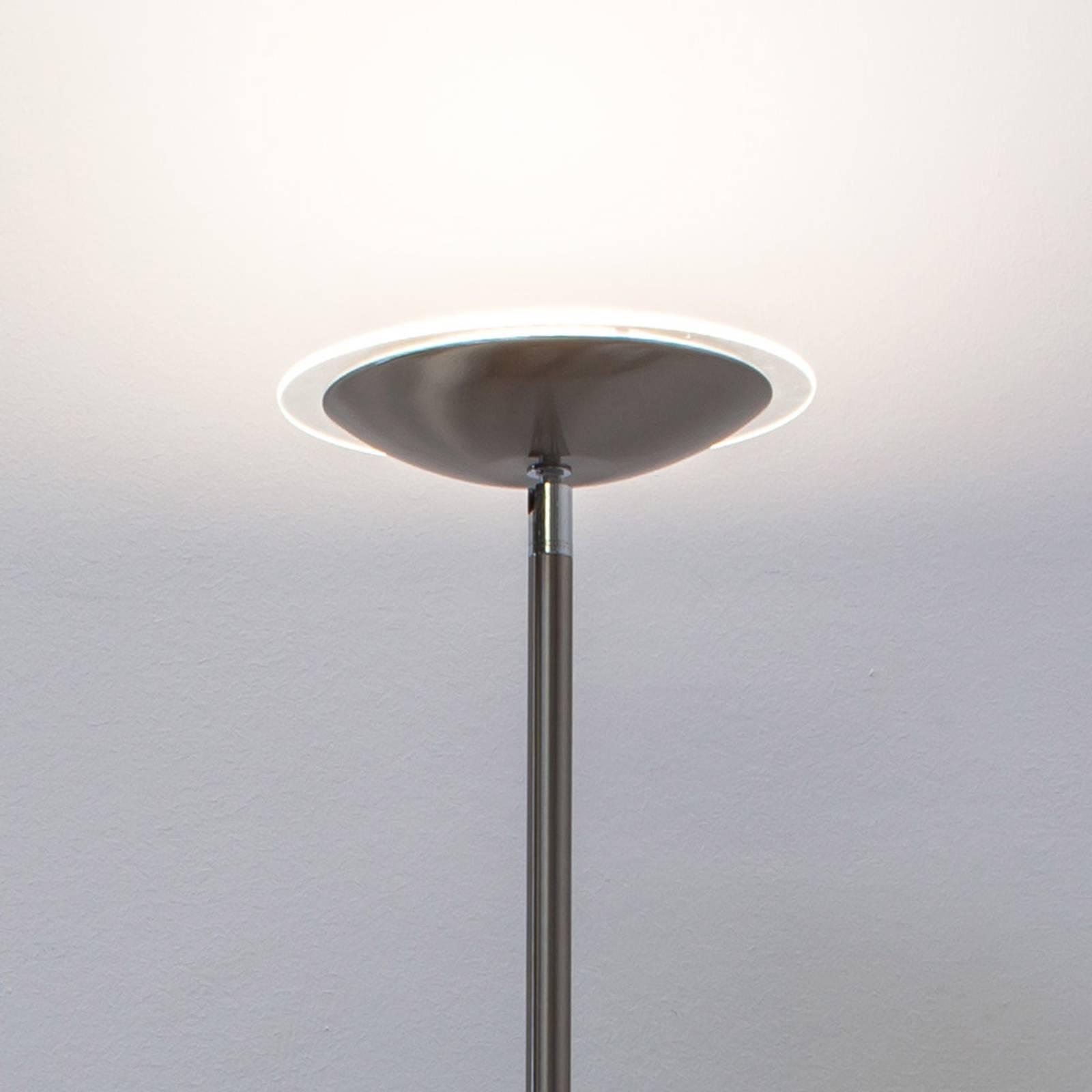 Malea LED uplighter, mat nikkel