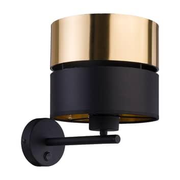 Lampa ścienna Hilton, czarna/złota