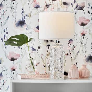Madame hvit bordlampe med tekstilskjerm