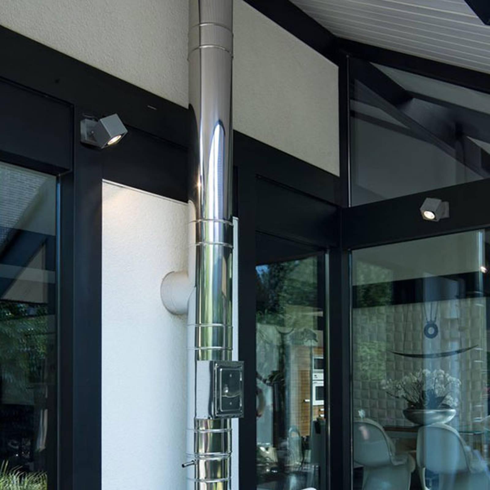 SLV Nautilus LED buitenwandspot hoekig 10,5 cm