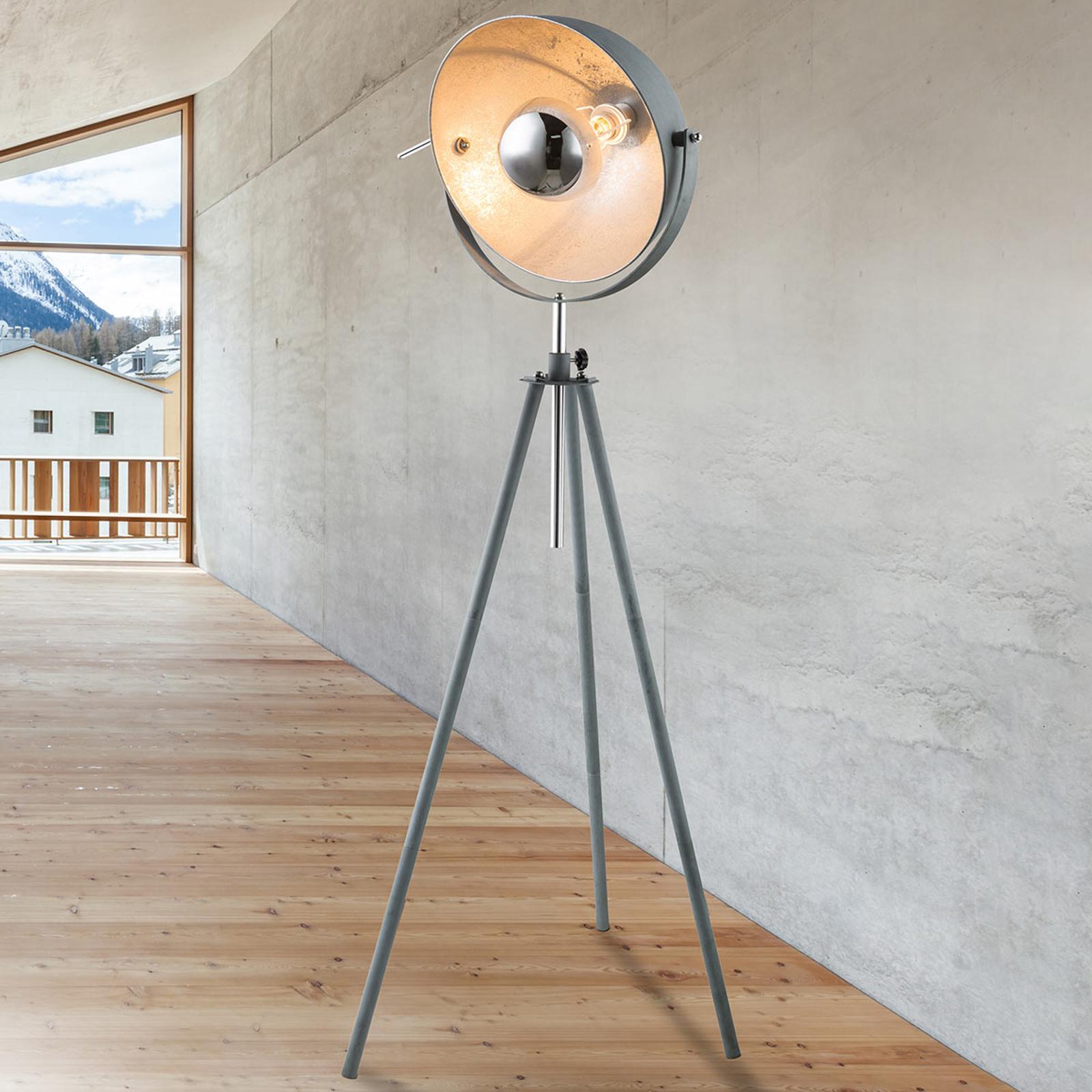 Miriam trójnożna lampa stojąca o wyglądzie betonu