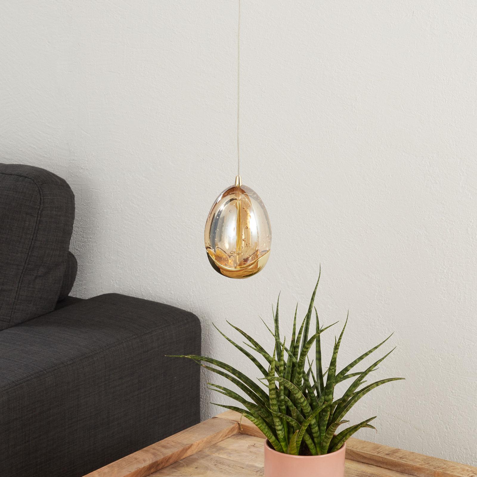 LED-Pendelleuchte Rocio 1-flammig mit Gold-Finish kaufen