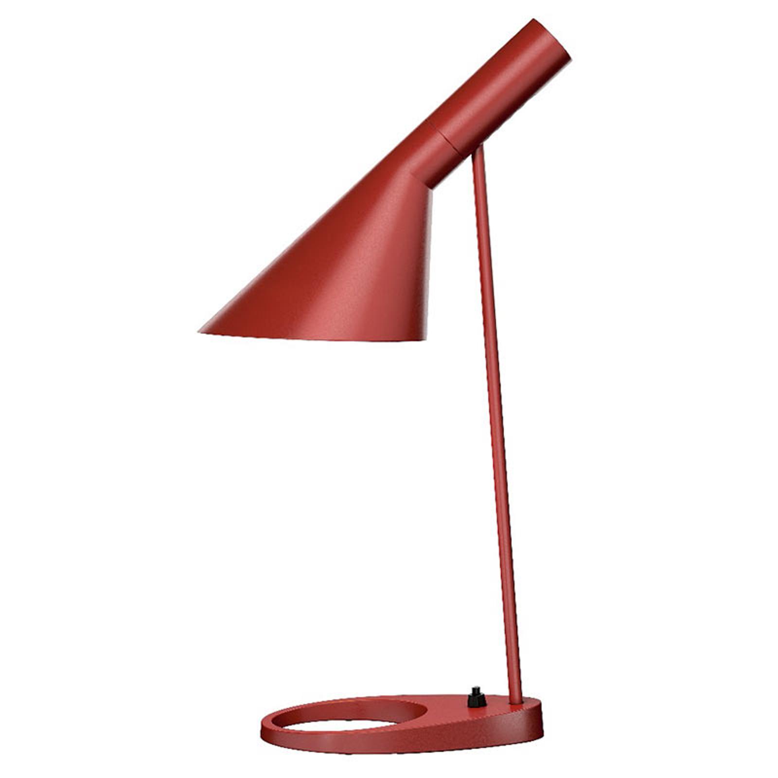 Louis Poulsen AJ - designer tafellamp, roestrood