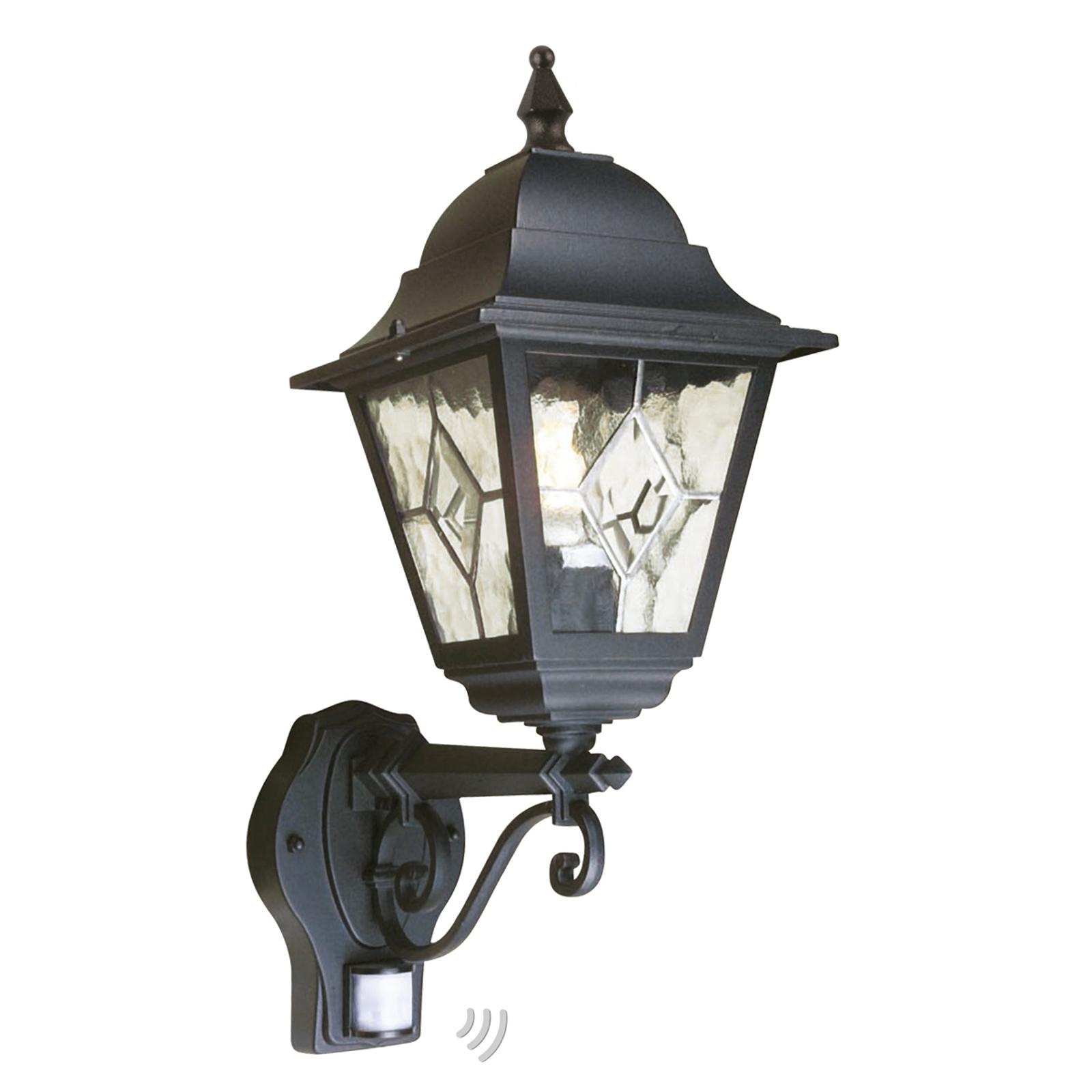 Buitenwandlamp Norfolk met bewegingsmelder