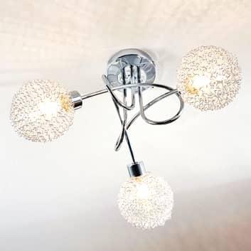 LámparaLED de techoTicino con 3 cabezales